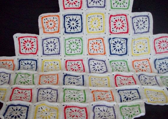 Kaleidoscope Afghan, Geometrical Afghan, Lapghan
