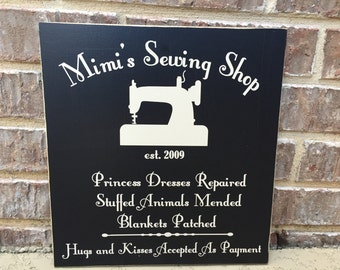 Gift For Mimi ~ Mimi's Sewing Shop Custom Wood Sign ~Mother's Day For Mom ~Sewing Sign ~READY TO SHIP ~Grandmother Sign ~Mother's Day Gift