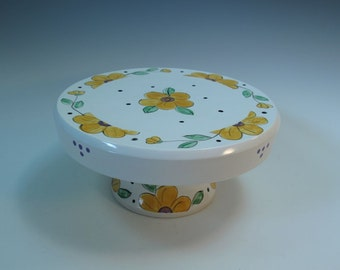 Majolica Hand Painted Small Cake/Tart Cake or Cupcake Stand - In Stock