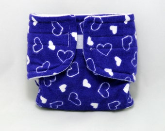 American Girl Baby Doll Diaper Little Purple Hearts - Size Large