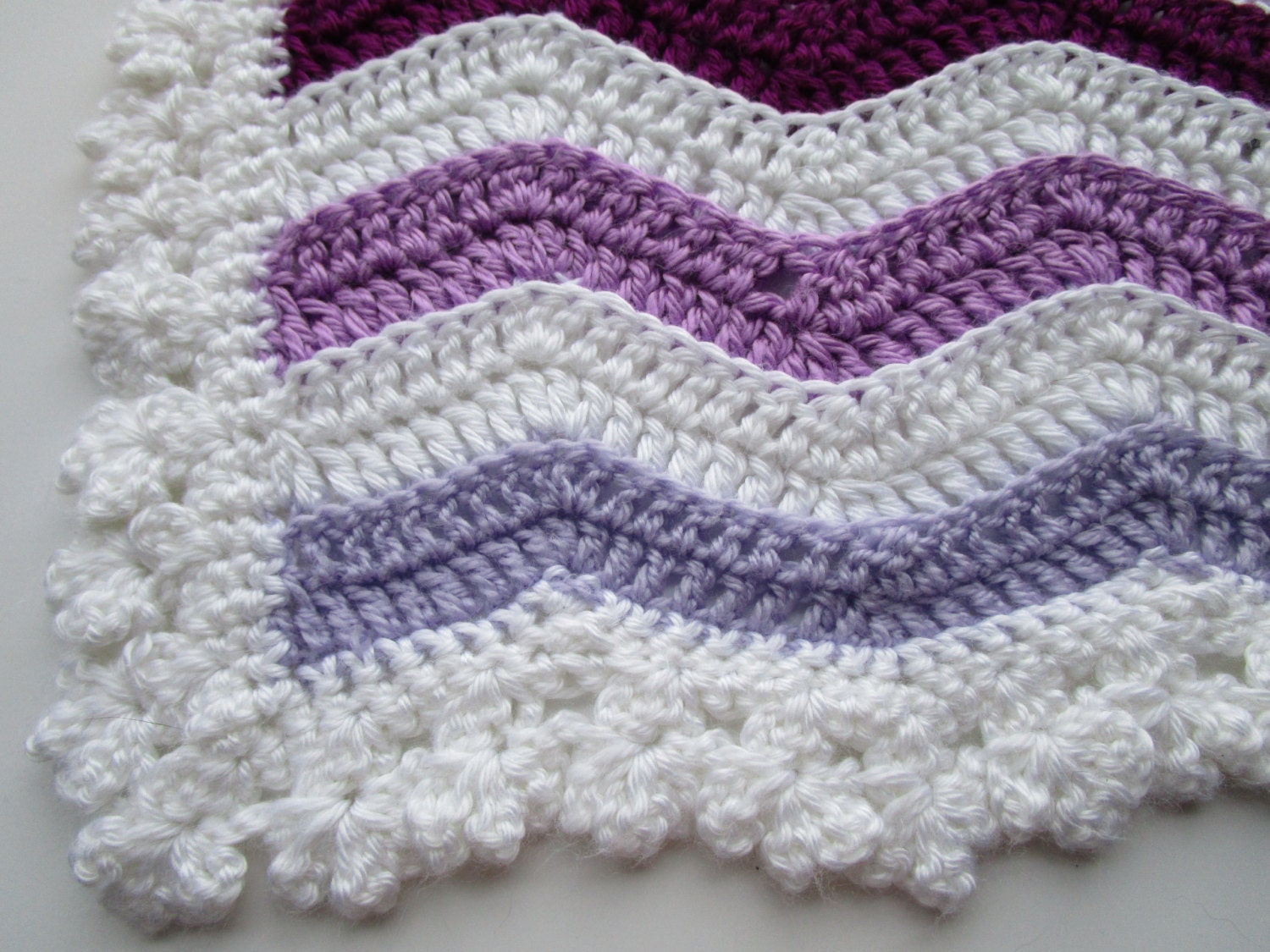 Easy Crochet Pattern Wavey Stripe Rainbow Ripple Afghan