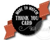 Made To Match, SoCalCrafty Thank You Card, 4x6 or 5x7, Printed or Printable, Free Shipping