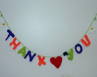 Unique thank you gifts, friend, for women, for friend, crochet thank you gift personalized banner