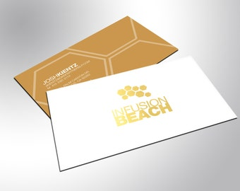 Gold Business Cards with Silky Matte Finish - Professional, Lush