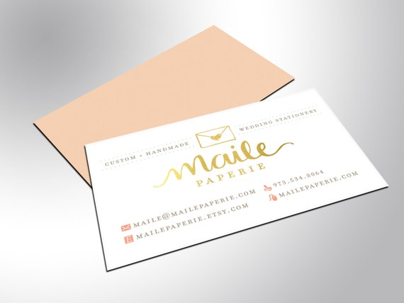 Gold Foil Business Cards with Silk Laminate