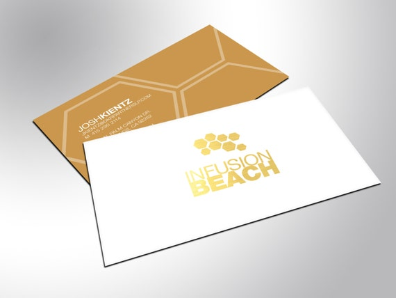 Gold Business Cards with Silky Matte Finish Professional