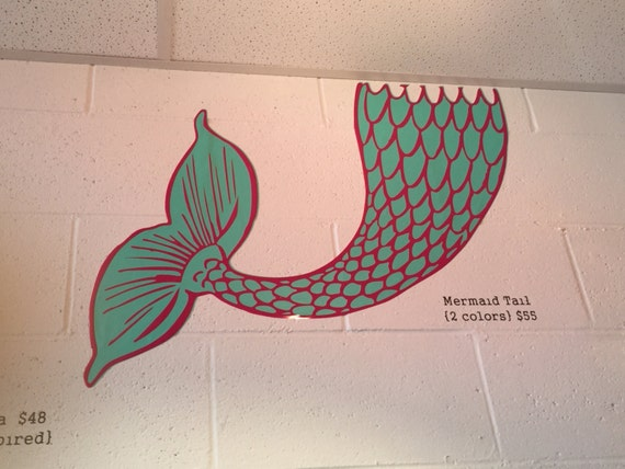 Items Similar To Mermaid Tail Wall Decal Ocean Inspired