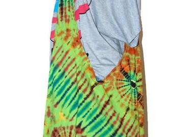 Crossbody Buddha GREEN Tie Dye Bag, Purse Sling Messenger  Hobo Hippie