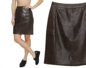 Quilted Leather Skirt / Buttery Lamb Leather Biker Babe Skirt / M