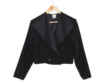 Yohi Minimalist Shaw Collar Tuxedo Blazer / M