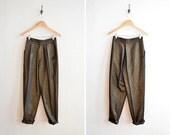 SALE / Vintage 1980s SCOVBON metallic statement trouser pants