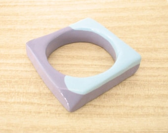 Blue resin bracelet, square resin bangle bracelet jewelry , chunky bracelet , purple jewelry, womans bangle , jewellery australia