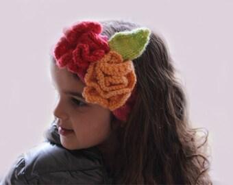 Knitting Pattern- Flower Headband knitting pattern