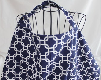 Deluxe Navy Chain Link Nursing Cover