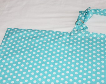 Teal and White Polka Dots Nursing Cover