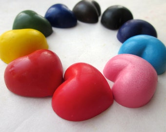 Crayons, Handmade Natural SOY Coloring CRAYONS Mini Heart Crayons, Eco Toy, Gift for Kids, Kids Gift, Party Favor, Birthday, Valentine's Day