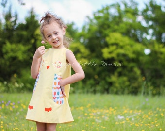 Sale. Girls Chick Dress. Baby Chicken Dress for Girls. Size 4T.