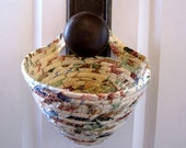 Hanging Organizer - Key Holder - Door Knob Basket - Free shipping