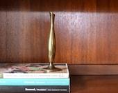 vintage simple brass bud vase