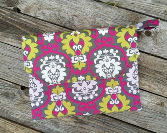 Diaper Clutch with attached minky changing pad - over 200 fabric choices