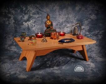 Oak Puja Table - Meditation altar - Shrine  - Puja Table  OPT-NOV2014