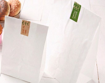 30 Basic White Paper Bags - M size (6 x 10.6in) from ...