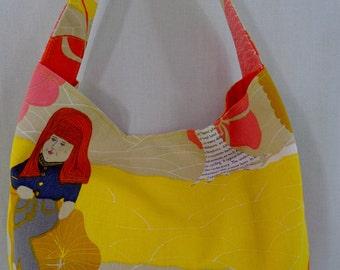 Medium Slouchy BAG, IKEA Pastels, Shoulder BAG, Small Hobo, Spring Summer Purse