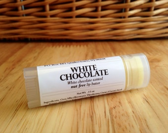White Chocolate Lip Balm, White Chocolate Lip Butter, nut free lip balm, sweet lip balm, candy lip balm