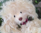 Giselle, A Jointed Real Fur Teddy Bear, Genuine Curly Mongolian Lamb Fur