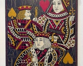 Jack, Queen, King Painting on Wood