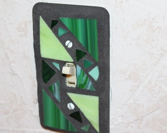 Mosaic Light Switch Cover - Greens
