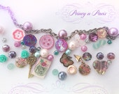 Jane, woman's MJC button charm bracelet