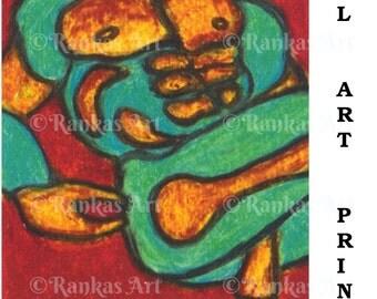 CHARGED & ENGAGED digital art print Ranka