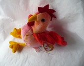Rooster Plushie, Bird Plushie, Rooster Gift, Ty Beanie Babie, Bird Gift, Farm Animal, Florida Gift, Vintage Toy, Stuffed Animal, Rooster