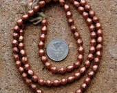 African Copper Bicone Beads 6x7mm