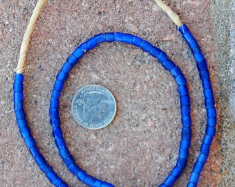 Antique Faceted Russian Blue Beads 4x5mm
