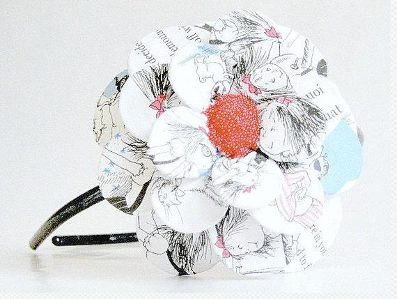Day At The Plaza Daisy Paper Mache Headband