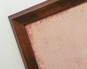 Housewares - Magnet Board - Dry Erase Bulletin Board - Magnetic Memo Board - Framed Makeup Board - Rose Love Design -Includes Magnets