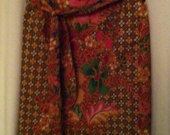 Ethnic Tropical Wraparound Skirt