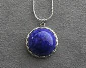 Lapis Lazuli Necklace Blue Lapis Necklace Lapis Lazuli Necklace Silver Silver Lapis Necklace Cobalt Blue Blue Stone Necklace Gift for Wife