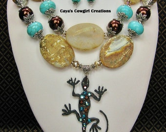 WESTERN NECKLACE / COWGIRL Chunky Statement Southwest Necklace - DeSeRt DiVa
