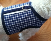 SALE Nautical Check Small Dog Harness Made in USA