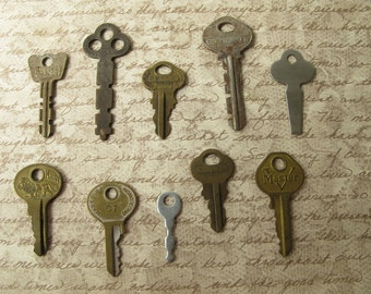 Vintage Keys, Collection, Metal