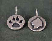 Sterling Silver Cat Charm, Kitty Necklace, Doubled Sided Charm Cat Charm, Memorial Jewelry, Animal Charms, Personalized Charm Necklaces