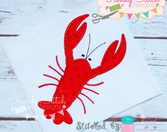 Lobster 4 Applique Design Machine Embroidery Design INSTANT DOWNLOAD