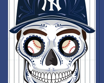 New York Yankees Sugar Skull Print 11x14 print