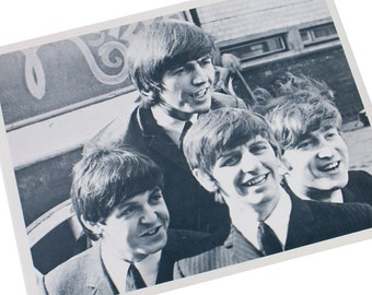 Black and White Beatles Photo Fan Photography