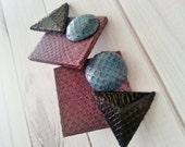 Vintage 80s Geometric Earrings