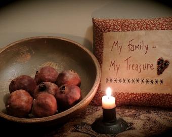 My Family - My Treasure Stitchery Pillow