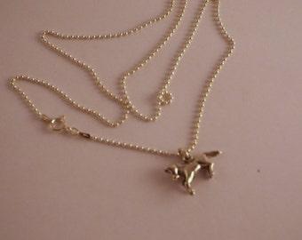 Vintage Horse Necklace in Sterling Silver